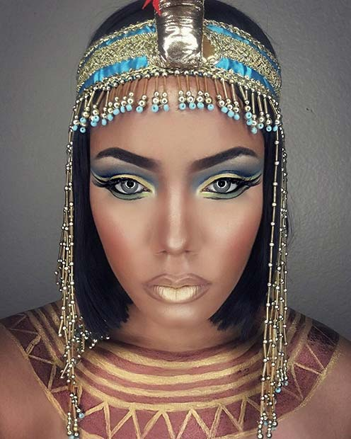 Egyptian Queen - Pretty Halloween Makeup Idea