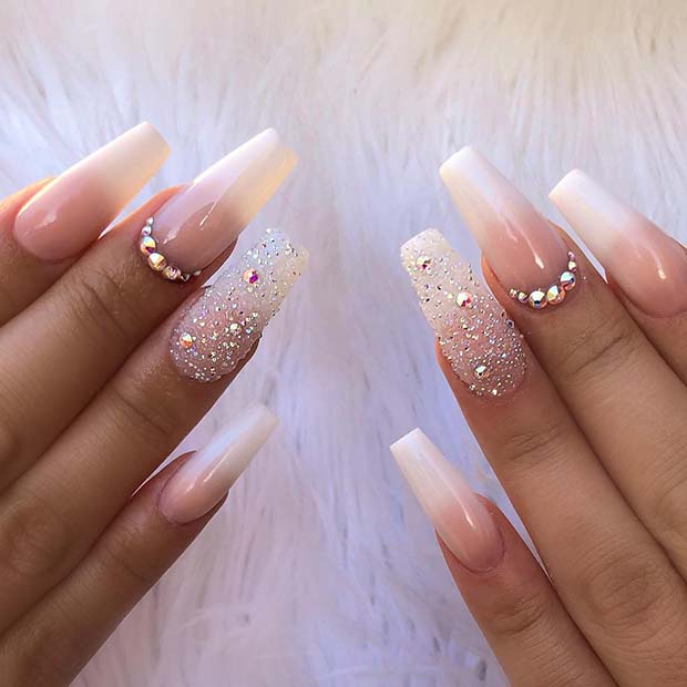 Elegant, Ombre Coffin Nails