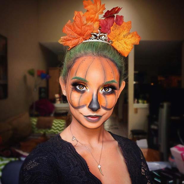 Pumpkin Inspired Halloween Makeup