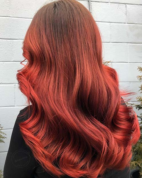 Fiery Copper Red Hair Color Idea