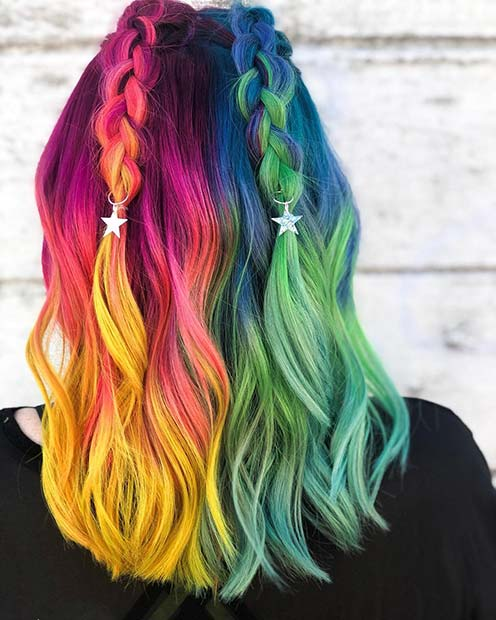 Bold Unicorn Hair Color Idea
