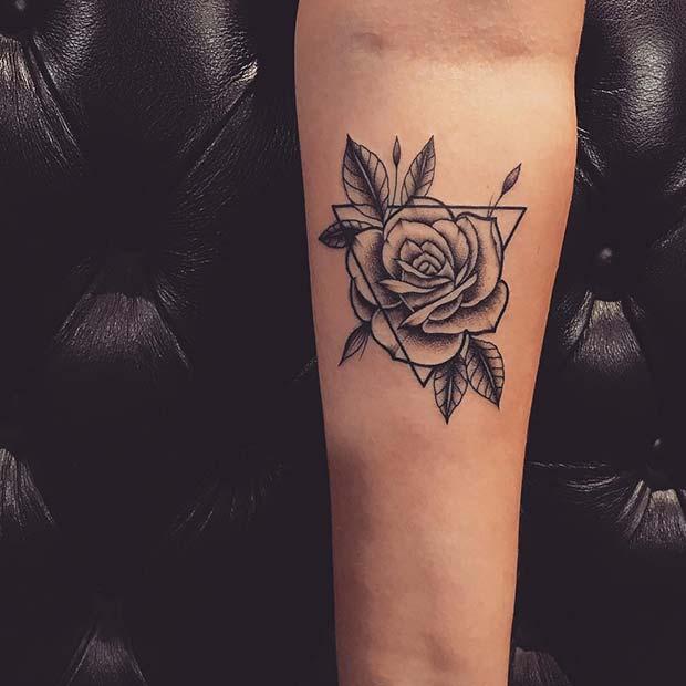 Geometric Rose TattooArt