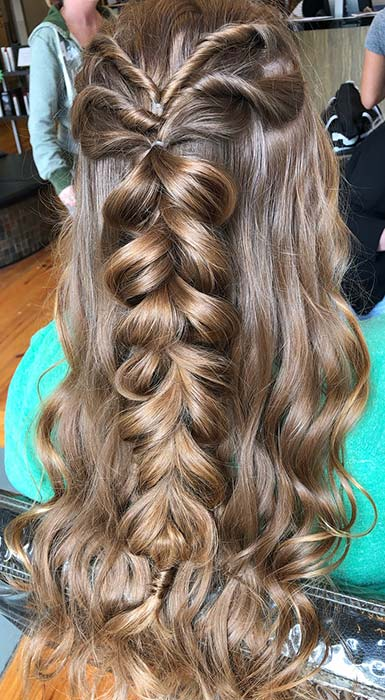 Half-Up Twists and a Pull Through Braid