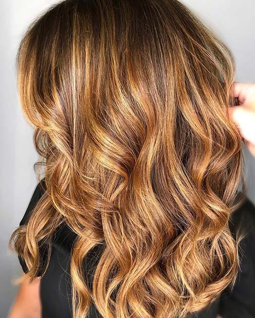 Light Caramel Winter Hair Color Idea