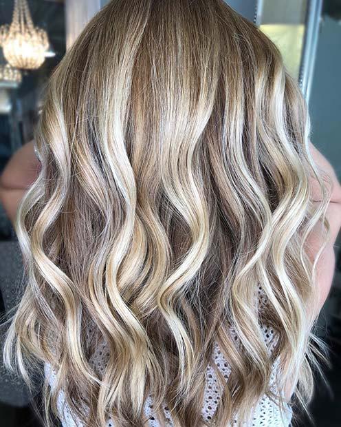 Light, Cool Blonde Balayage Highlights