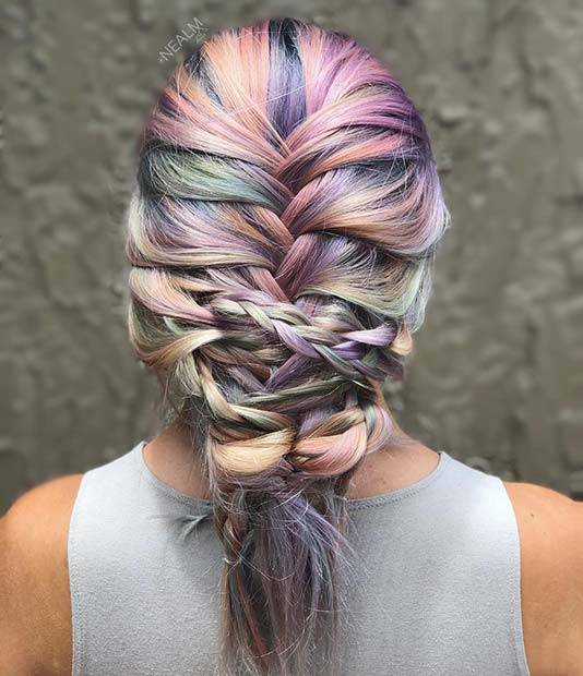 Light Pastel Unicorn Hair Color Idea