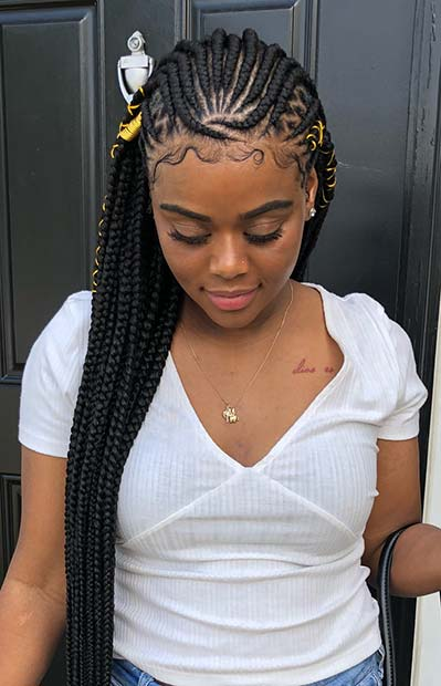 Thick Accessorized Tribal Braids