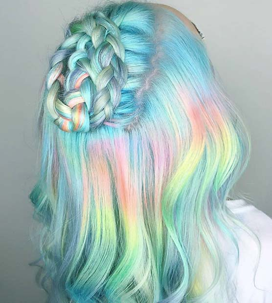 Magical Unicorn Hair Color Idea