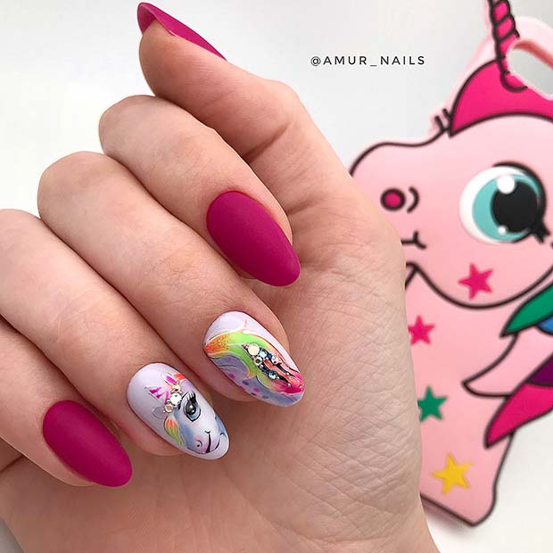 My Little Pony Unicorn Inspired Nails