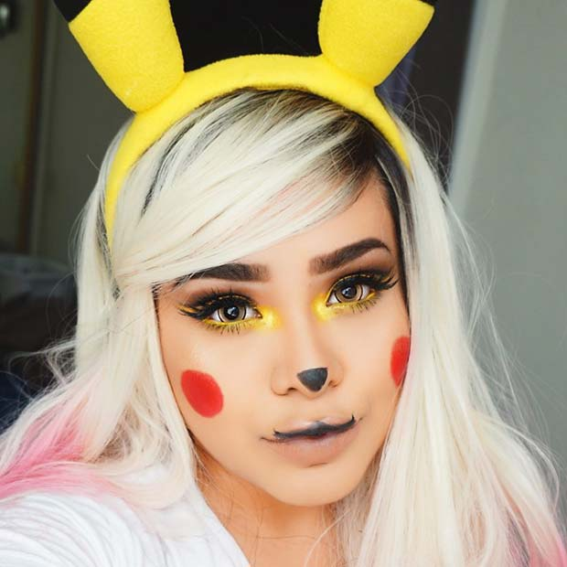 Pretty Pikachu Halloween Makeup