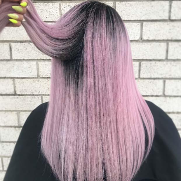 Pastel Pink Hair Color Idea