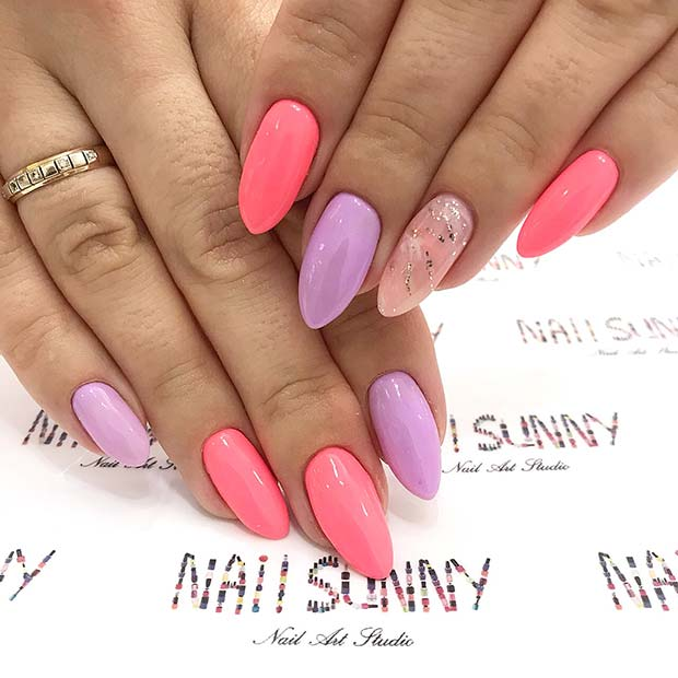 Cute & Simple Pink Nail Design
