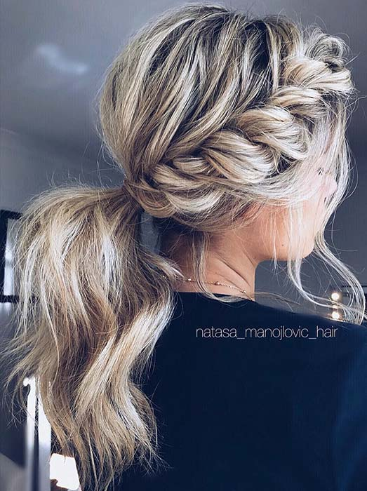 Messy, Twisted Ponytail Hair Idea