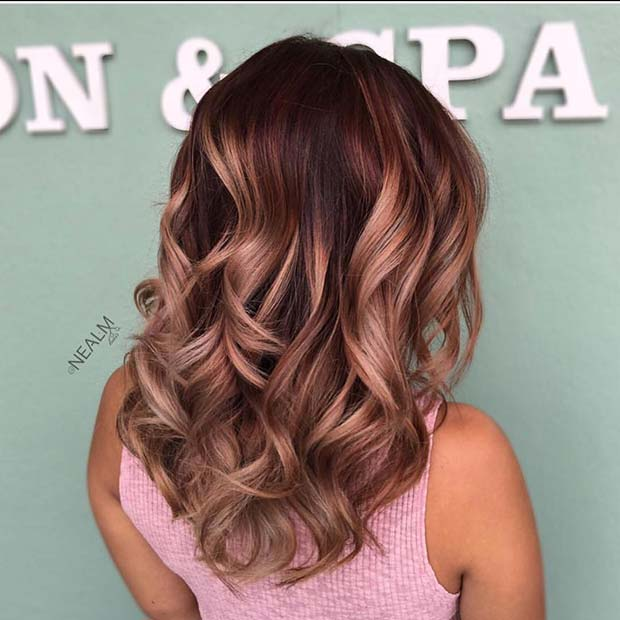 Rose Gold Winter Hair Color