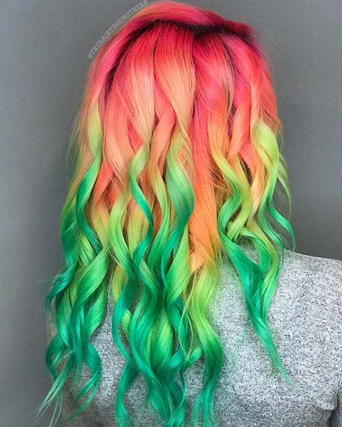 Statement Neon Hair Unicorn Hair