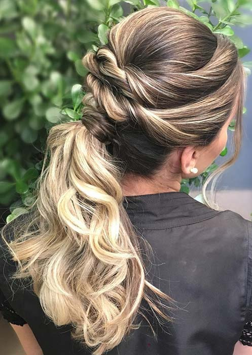 Stylish Twisted Ponytail Hairstyle