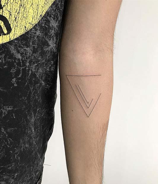 Simple Triangle TattooIdea