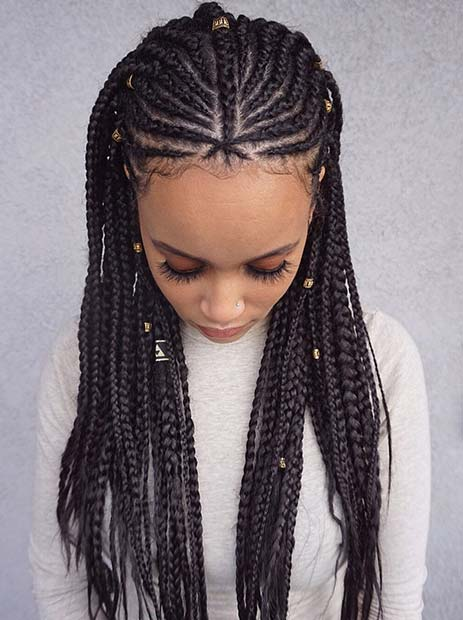 43 Badass Tribal Braids Hairstyles to Try | Page 2 of 4 ...