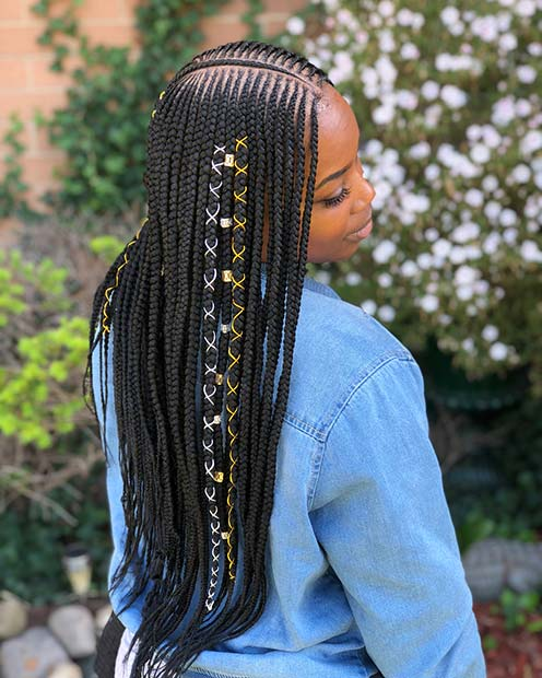 43 Badass Tribal Braids Hairstyles to Try | StayGlam