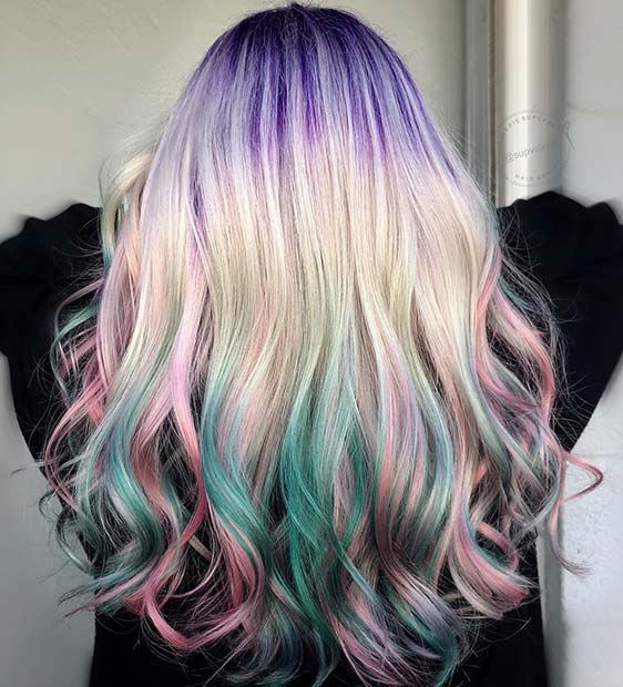 Unicorn Hair with Root Color