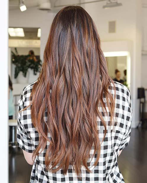 Warm Brown Winter Hair Color