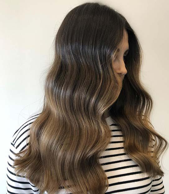 Dark to Light Brown Balayage Hair