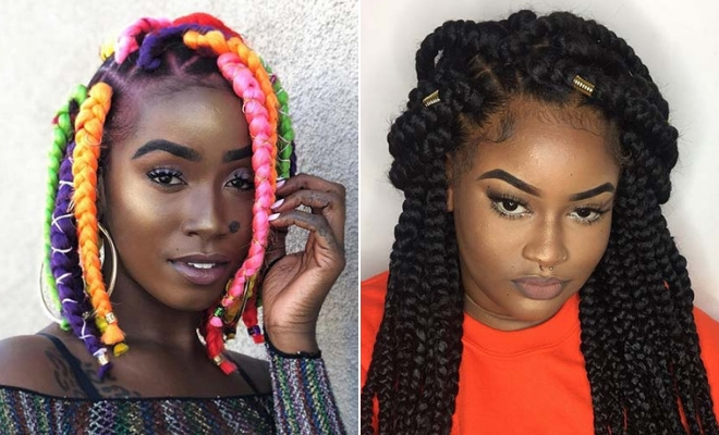 23 Big Box Braids Hairstyles For Black Hair