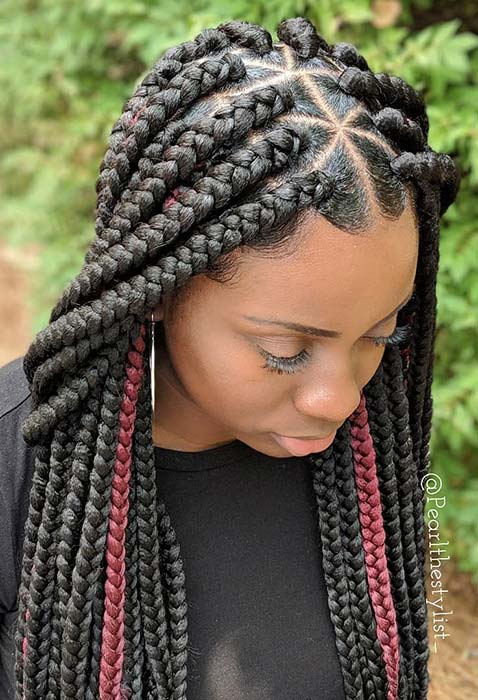 21 Pretty Triangle Braids Hairstyles You Need to See