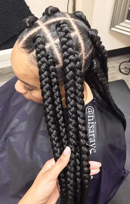 43 Big Box Braids Hairstyles For Black Hair Stayglam