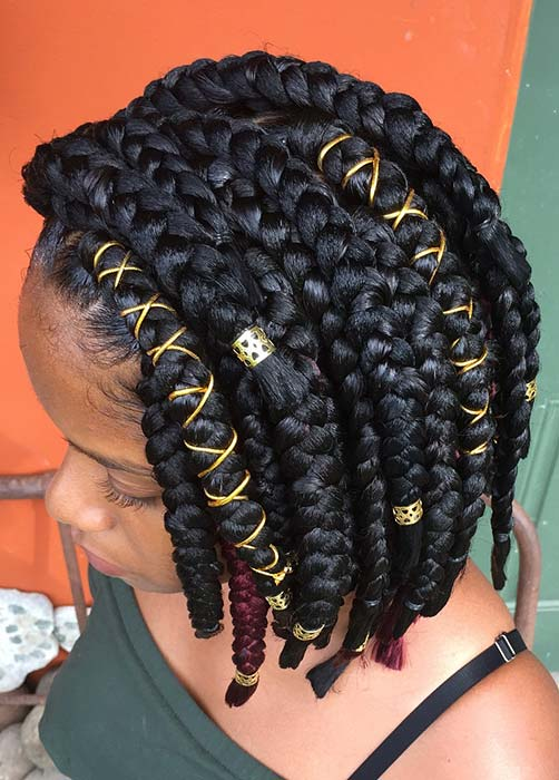 43 Big Box Braids Hairstyles For Black Hair Page 2 Of 4