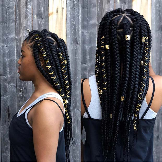 Jumbo Triangle Box Braids
