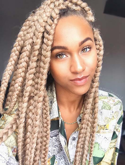 Big Blonde Box Braids