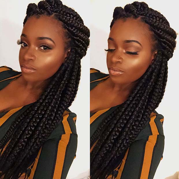 23 Box Braids Hairstyles For Black