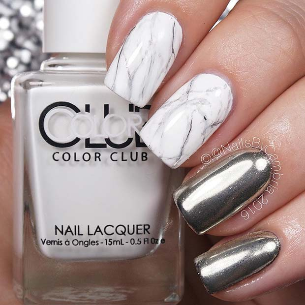 Pretty, Chrome and Marble Nails
