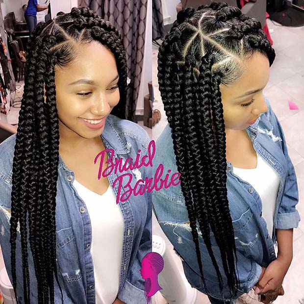 21 Pretty Triangle Braids Hairstyles You Need to See ...