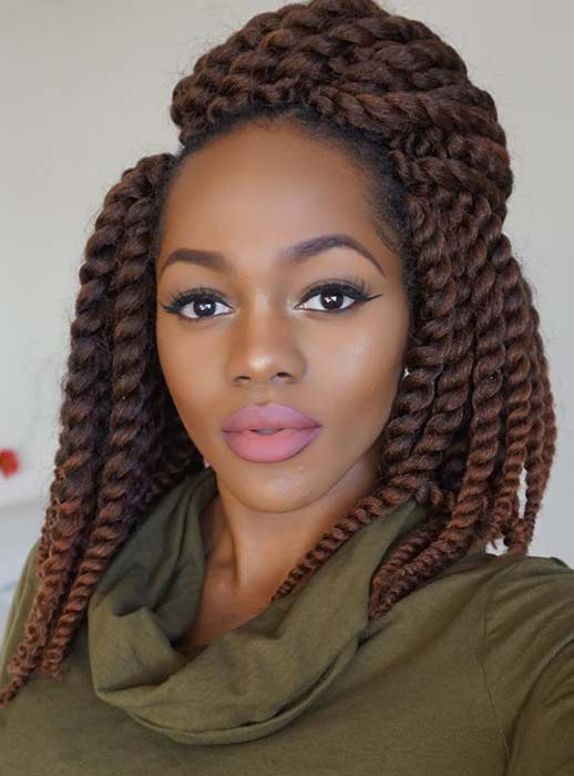 Short, Chunky Brown Twists