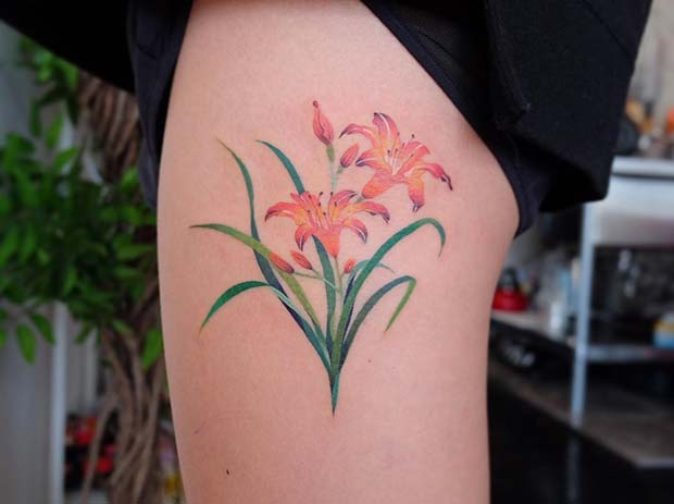 79ac6a757 23 Pretty Lily Tattoo Ideas for Women | StayGlam