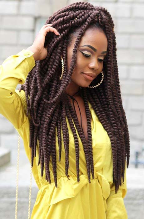 Glam Twist Braids in Brown Shade