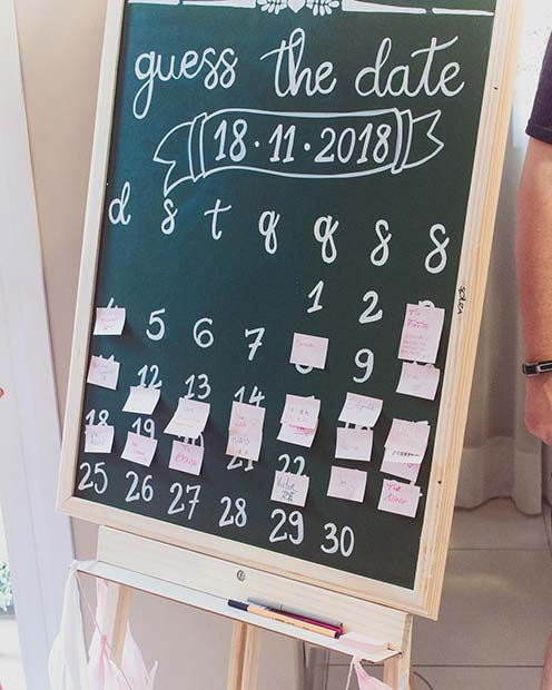 Guess the Date Gender Reveal Party Game