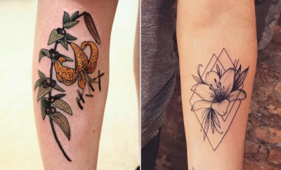 Pretty Lily Tattoo Ideas for Women