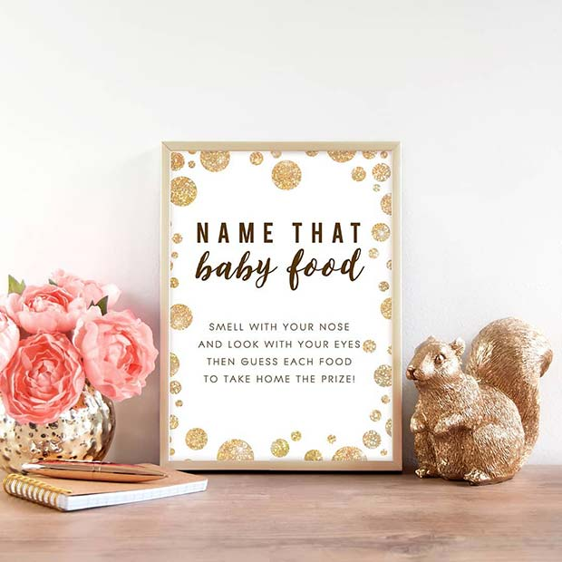 Name the Baby Food Gender Reveal Party Game