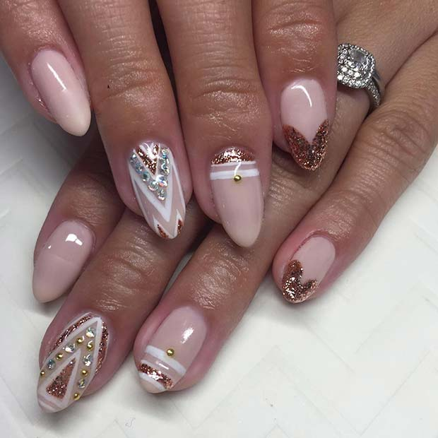 Rose Gold Gel Nails