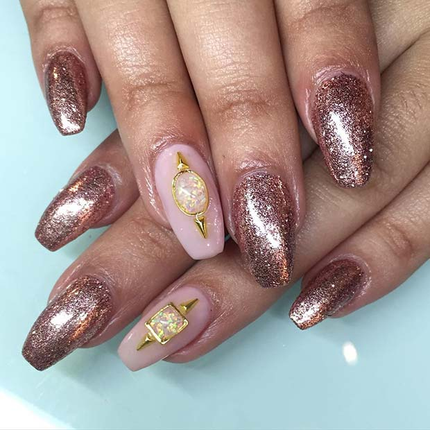 10 Elegant Rose Gold Nail Designs: 23 Must-Try Rose Gold Nail Art Designs