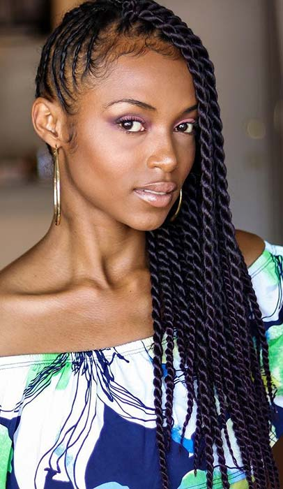Side Braid Twists