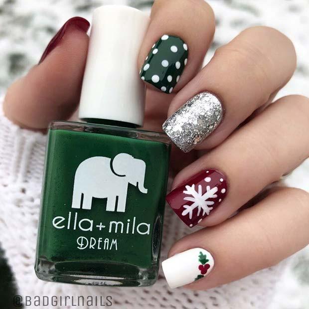 Simple Holiday Nails