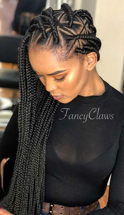 Stylish Thick and Thin Triangle Braids