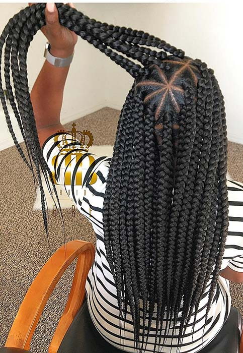 Thick Triangle Part Braids