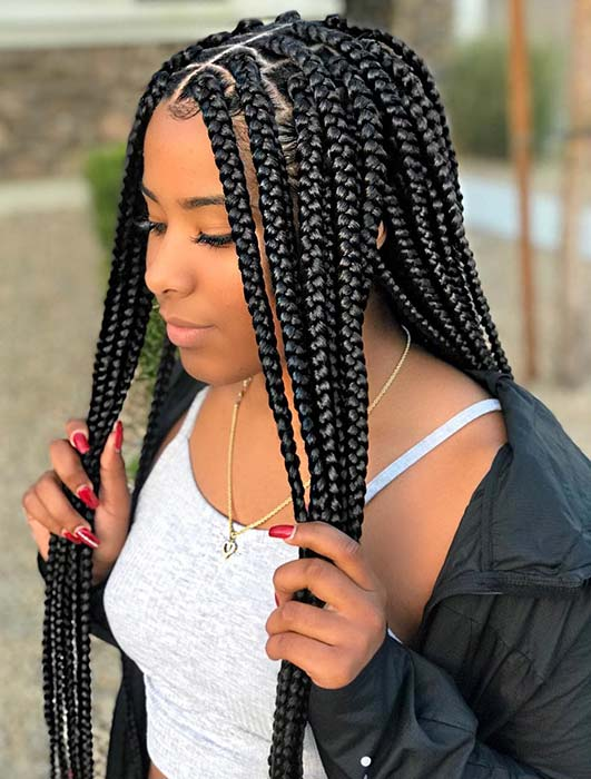 25 Crochet Box Braids Hairstyles For Black Women Stayglam