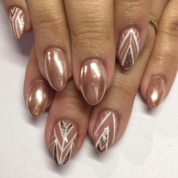Trendy Rose Gold Nails