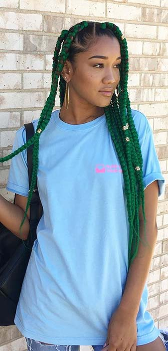 23 Big Box Braids Hairstyles For Black Hair Page 2 Of 2
